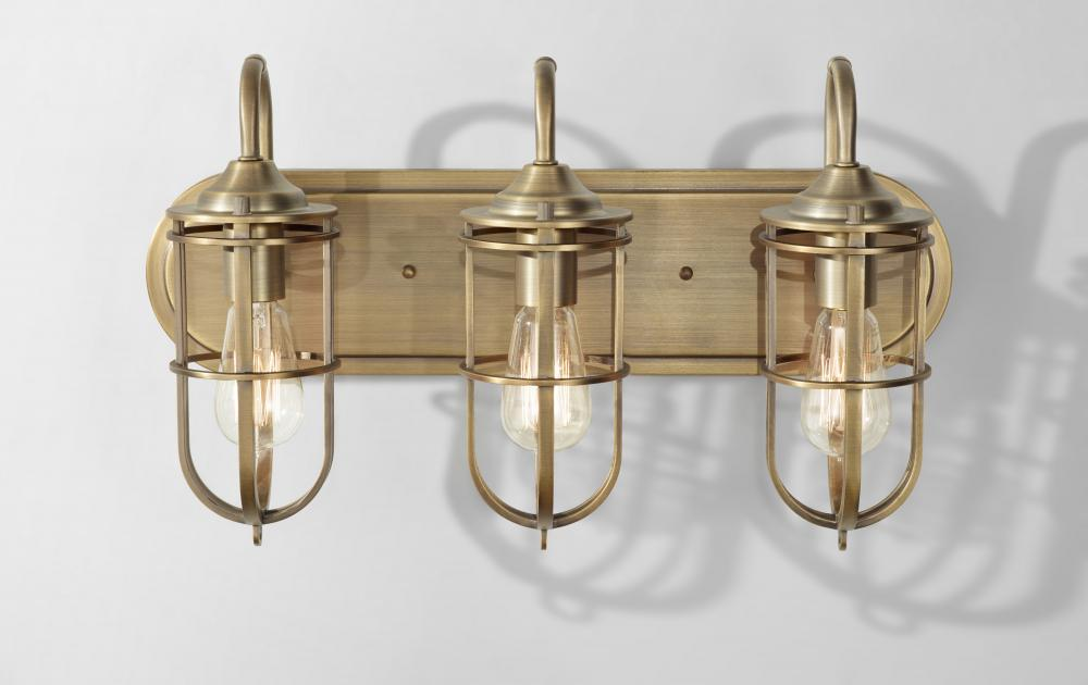 3 - Light Urban Renewal Vanity Strip - 3 - Light Urban Renewal Vanity Strip : MN78 Harbour Lighting Boutique